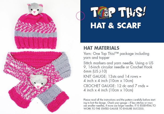 Dmc Top This Hat And Scarf Pattern Instructions Bryson Distributing